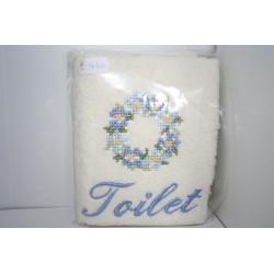 Gastendoek voor toilet, bloemenkrans
