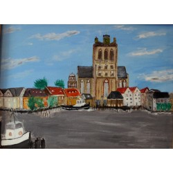 Grote Kerk Dordrecht - Olieverfschilderij op linnen