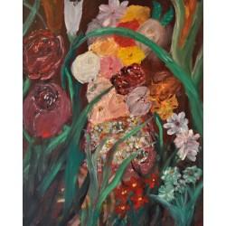 Strange Flowers - Olieverfschilderij op linnen