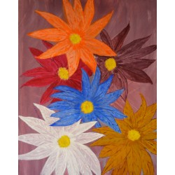 Satin Flowers, olieverf schilderij op linnen gemaakt door kunstschilder Henraat