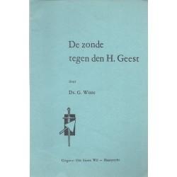 Wisse, Prof. G. - De zonde tegen de Heilige Geest