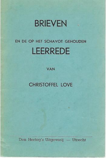 Love, Christoffel - Brieven...